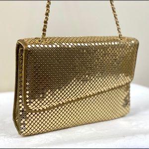 Vintage Gold Mesh Crossbody 80's Handbag